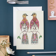 Load image into Gallery viewer, Two Turtle Doves - Card - The DM Collection