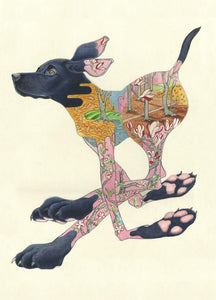 Black Labrador Running - Print - The DM Collection