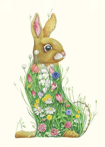Bunny in a Meadow  - Print - The DM Collection