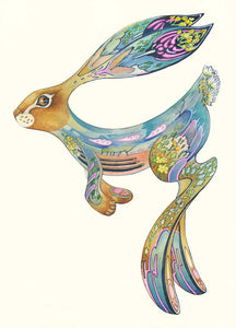Hopping hare - Card - Pack of 6