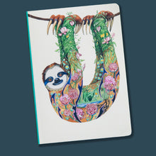 Load image into Gallery viewer, Perfect Bound Notebook - Sloth