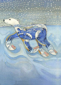 Polar Bear Swimming - Print - The DM Collection