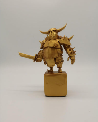 Clash of Clans Golden Pekka Statue #256 with Defect (See pic 3 and 4)