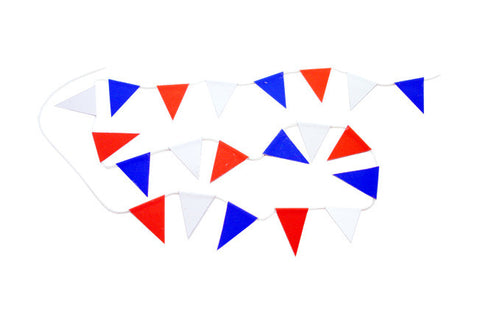 Bunting - Red, White & Blue