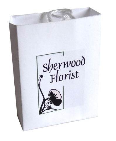 White Carrier Bag - Sherwood Florist