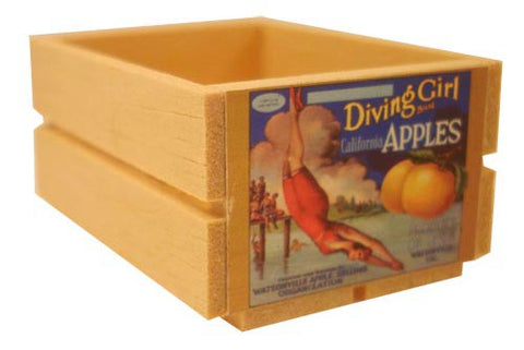 Large Crate - Diving Girl Apples