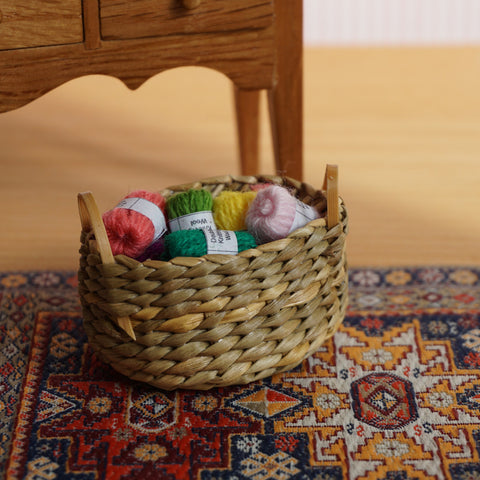 Basket of Assorted Wool