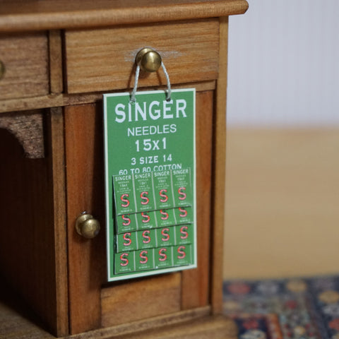 Singer Sewing Needles Display Card