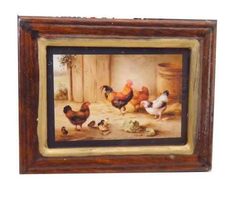 Framed Print of Chickens