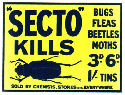 Secto Insect Killer Shop Sign