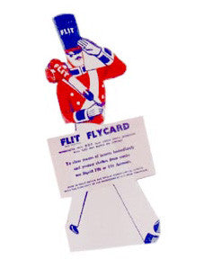 Flit Flycard Free Standing Sign.