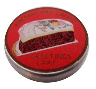 Greetings Cake tin