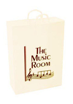 White Carrier Bag - Music
