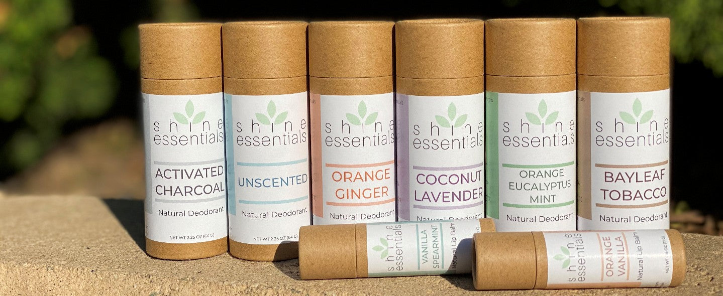 Shine Essentials Organic Deodorant and Organic Lip Balm