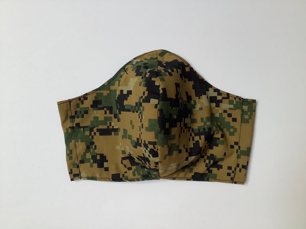 Modern Camo Print - Adult Sized Mask Roomy