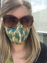 Load image into Gallery viewer, Pandemic Pineapples - Adult Sized Mask Regular