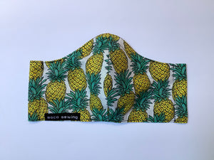 Pandemic Pineapples - Adult Sized Mask Regular
