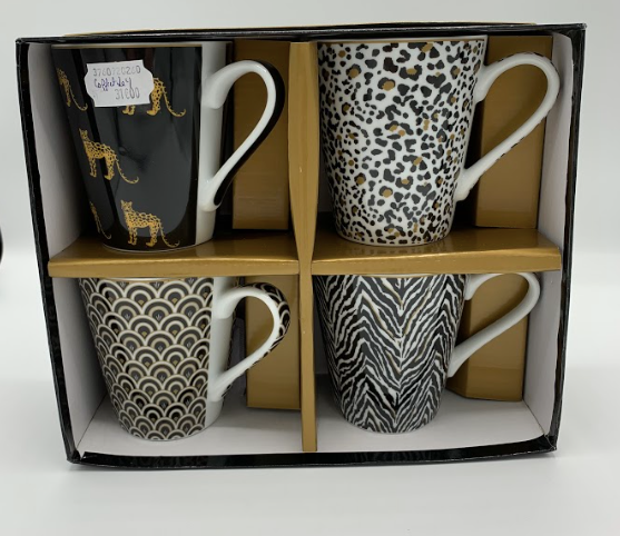 coffret 4 mugs jungle