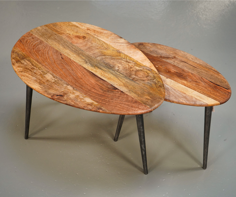 Table basse en bois en 2 éléments - Sema Design