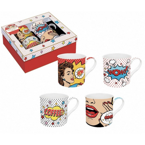 Coffret 4 Mugs Pop Art - Easylife
