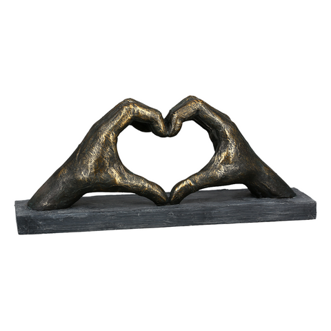 "Sculpture ""mains en coeur"""