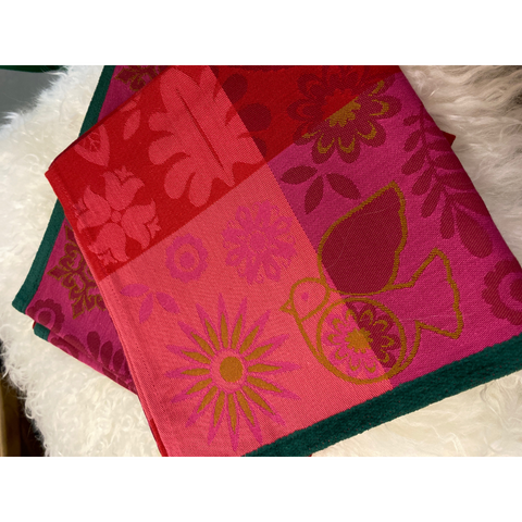 Serviette de Table Cranberry - Le Jacquard Français