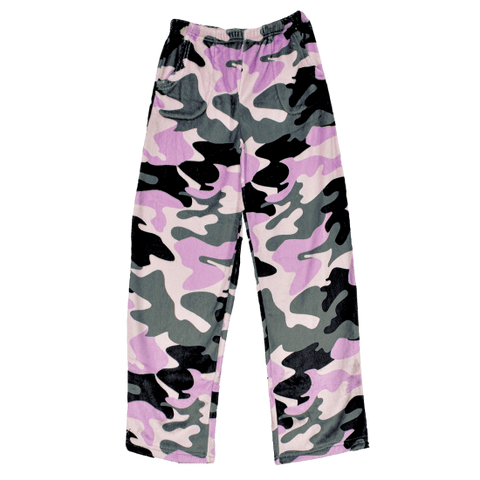 Purple Camo Plush Pants