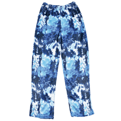 Tie Dye Blue Plush Pants