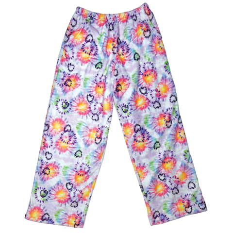 Heart Tie Dye Plush Pants