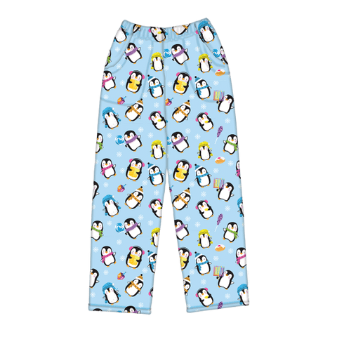 Hanukkah Penguins Plush Pants