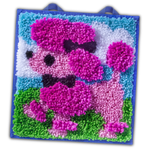 Latch Kits Poodle 3D Mini-Rug