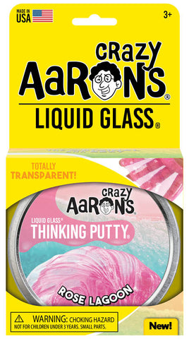 Crazy Aaron's Rose Lagoon Liquid Glass Thinking Putty