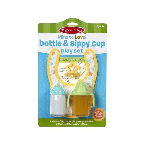 Mine to Love Bottle & Sippy Cup Play Set