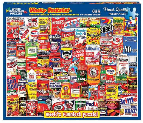 White Mountain Wacky Packages 1000 Piece Puzzle
