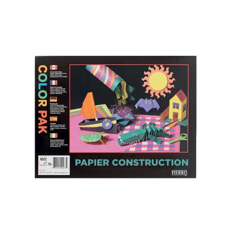 Construction Paper Pad Assorted Colours