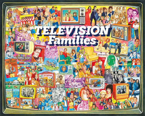 White Mountain Television Families Jigsaw Puzzle 1000pc