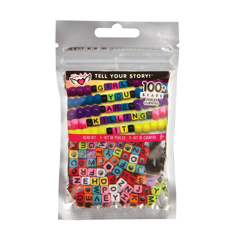 Fashion Angels Tell Your Story Alphabet Bead Bag - Rainbow Cubes