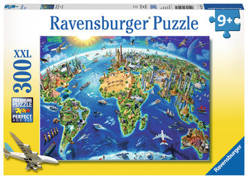 Ravensburger World Landmarks Map Jigsaw Puzzle 300pc