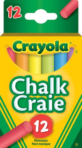 Crayola Coloured Chalk 12 Pack