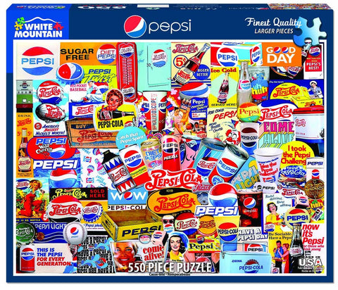 White Mountain Pepsi 550 Piece Puzzle