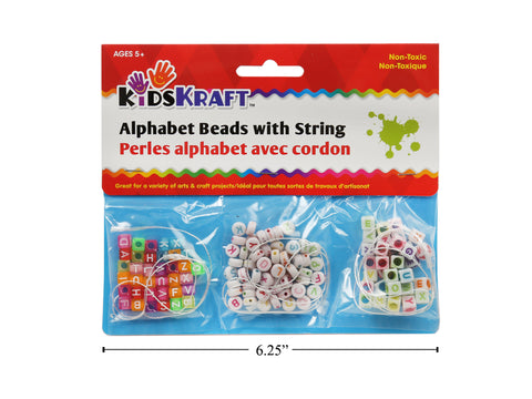 Alphabet Beads with String