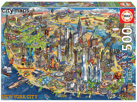 Educa New York City Map Jigsaw Puzzle 500pc