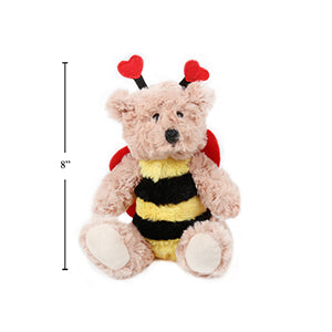 "Valentines 6"" Bee Mine Plush Bear"