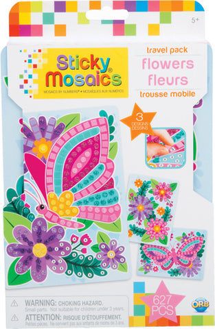 Sticky Mosaics Travel Pack: Flowers
