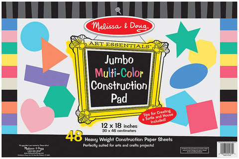 "Jumbo Multi-Color Construction Pad (12""x18"")"