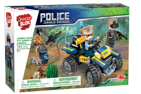 Dragon Blok: Police Jungle Patrol - Jungle Quad