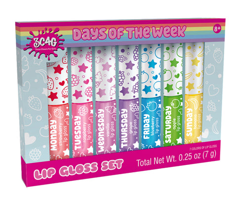 Days of the Week Lip Gloss Set