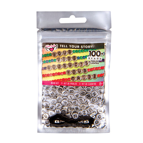 Fashion Angels Tell Your Story Alphabet Bead Bag - Silver Tablets