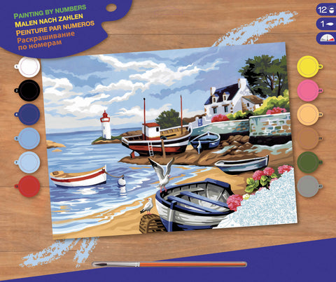 Painting by Numbers - Fishing Village