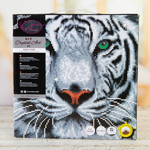 Snow Tiger Crystal Art Kit